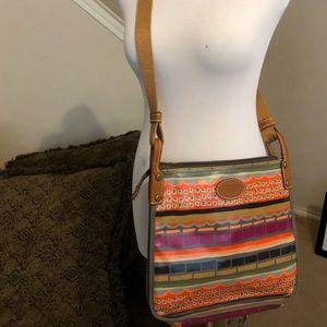 Fossil crossbody multicolored purse